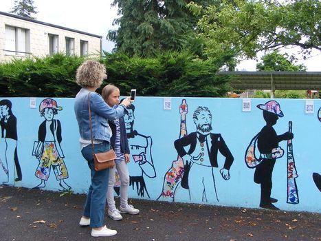 La fresque historique interactive réalisée par les élèves d'ULIS et de CM2 : - école élémentaire Jean Racine Châteauroux (Indre) | CaféAnimé | Scoop.it
