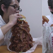 Behold a Hamburger Stacked with a Thousand Pieces of Bacon | Bacon Love | Scoop.it