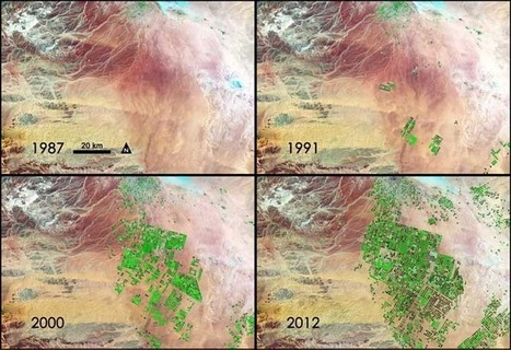 | Incredible NASA images of Saudi Arabia's irrigation projects with precious fossil water! | Remote Sensing News | Scoop.it