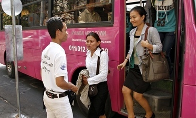 Cambodians board Phnom Penh's first public buses in more than a decade | Cambodia Education | Scoop.it