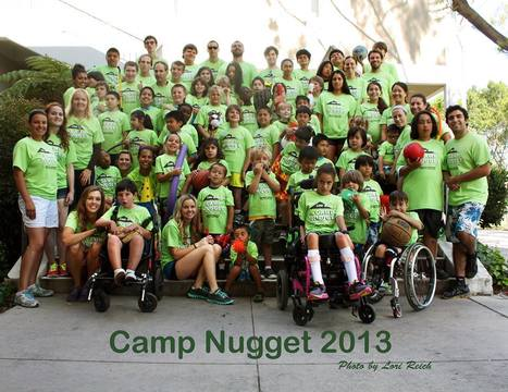 Our friend Davion at Camp Nugget in California. Davion is located in the center of the photo with the baseball glove.   Davion is attending Camp Nugget through our Project 7 sponsorship. We continu... | Williams syndrome | Scoop.it