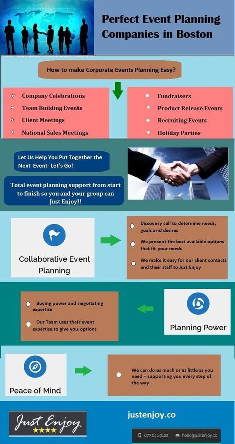Perfect Event Planning Companies in Boston  - Infographics | A unique corporate event in Boston | Scoop.it