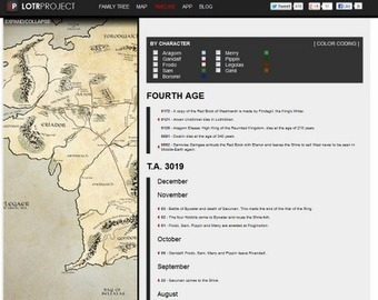 Free Technology for Teachers: An Interactive Map and Timeline of Middle Earth | teaching with technology | Scoop.it