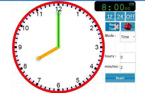 Interactive teaching Clock digital,analogue,telling time & angles | Educationally Insightful Minds | Scoop.it