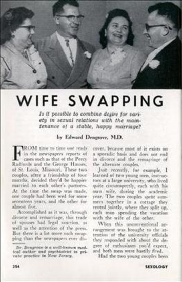 WIFE SWAPPING - Sexology (Jan, 1959)   Sex History   Scoop.it