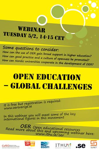 Open education – global challenges | OERSverige.se | marked for sharing | Scoop.it