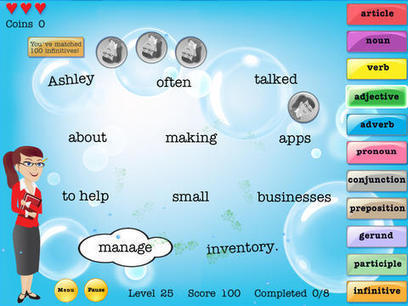 So You Think You Know Your Parts Of Speech? Find Out With Grammar Pop HD For iPad | Parts-of-speech | Scoop.it
