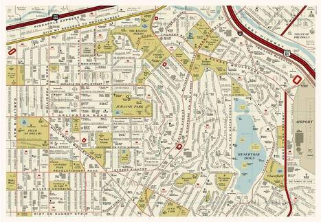This amazing movie map turns every fictional film location into a city - Metro | Books, Photo, Video and Film | Scoop.it