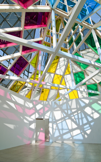 "Daniel Buren: ""Architecture, against-architecture: transposition"" 