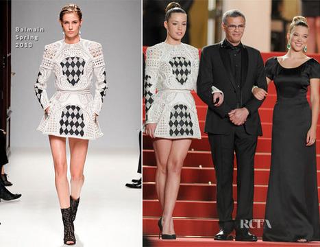 Adele Exarchopoulos In Balmain & Lea Seydoux In Armani - 'La Vie ... | TAFT: Trends And Fashion Timeline | Scoop.it