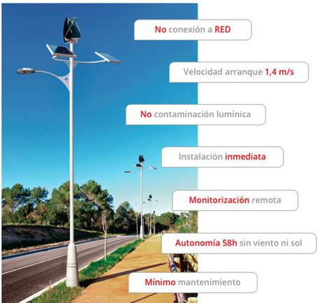 Primer sistema autónomo de alumbrado público alimentado con energía solar y eólica | tecno4 | Scoop.it