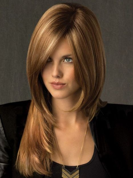 New Glamourous Full Lace Medium Straight Brown Remy Hair Wig : fairywigs.com | Lace Wigs | Scoop.it