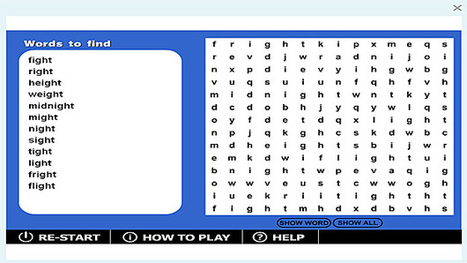 Wordsearch '-ight' game | Sites that help our spelling | Scoop.it
