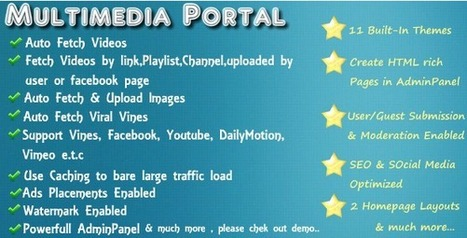 Media Portal Script with Responsive Themes (Images and Media) | PHP Scripts Download | Scoop.it