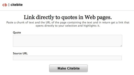 Deep Link Straight To Original Quotes and Passages Within Web Pages with Citebite | Libraries and publishing | Scoop.it