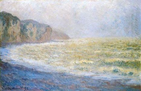 Cliff bij Pourville 1 - Olieverfschilderijen | famous paintings gallery | Scoop.it