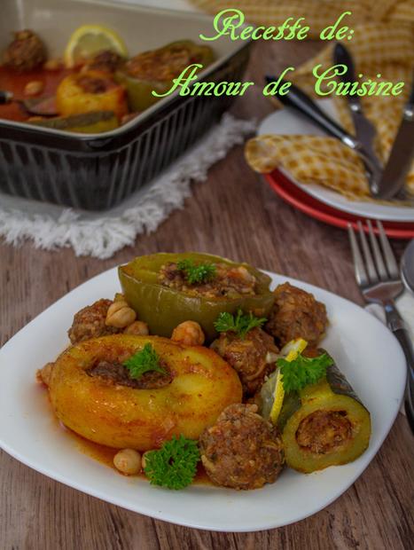 Dolma, legumes farcis a la viande hachee au four - Amour de cuisine | Cuisine Algerienne, cuisine marocaine, cuisine tunisienne, cuisine indienne | Scoop.it