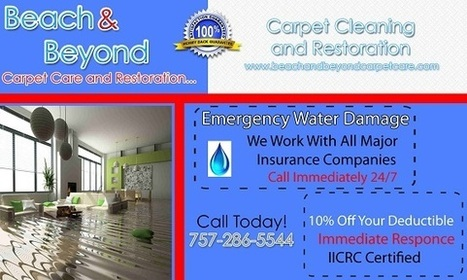 Restoration Virginia Beach When you experience a water damage loss yo | Beach And Beyond Carpet Cleaning | Scoop.it