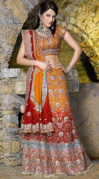 Indain Beautiful Lehanga | Weeding Bridal Dresses Collection 2014 - ..:: Fashion Wd Passion ::.. | Wear Fashion with Style | Scoop.it