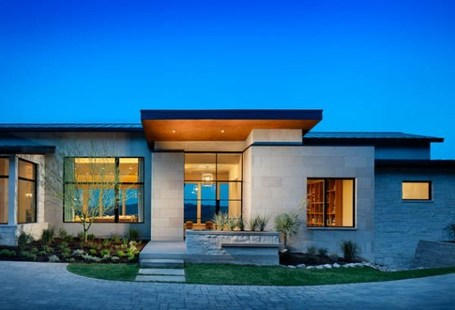 Modern Home Design Plans on Contemporary House On The Hill   Yourhomyhome Com   Modern Home Design