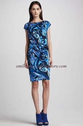 Emilio Pucci Marilyn Printed Silk Short Dress Blue [Marilyn Printed dress blue] - $184.99 : Emilio pucci dress sale online outlet,60% off & free shipping! | fashion things | Scoop.it