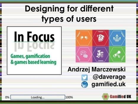 Gamification User Types presentation for InFocus | Gamification o Ludificación,  Como mejorar la efectividad de su negocio jugando. | Scoop.it