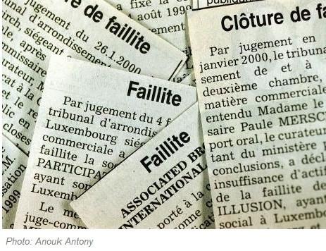 Augmentation du nombre de faillites au Luxembourg en 2012 | Luxembourg (Europe) | Scoop.it