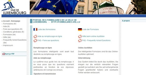 Portail des formulaires de la Ville de Luxembourg | Luxembourg (Europe) | Scoop.it