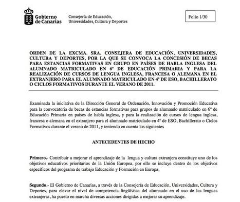 Intrucciones del Programa CLIL. 2012/2013   Normativa del Programa CLIL en Canarias   Scoop.it