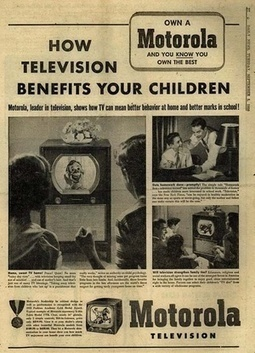 'How Television Benefits Your Children' Ad, 1950 - Retronaut | A Cultural History of Advertising | Scoop.it