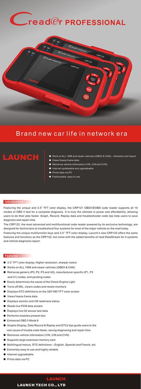 Original Launch CReader Professional CRP123 - US$145.00   obd2 tools   Scoop.it