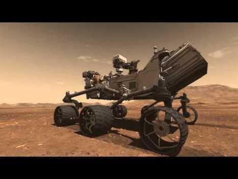 Mars : le rover Curiosity se posera dans le cratère Gale | Space matters | Scoop.it