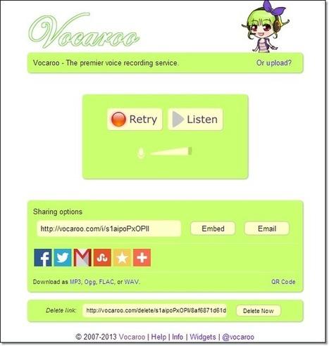Enregistrer sa voix en ligne 7 services | TICE Education | Scoop.it