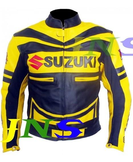 Suzuki GSXR Yellow Motorbike Scooter Leather jacket Men | Adidas TT10 Black Hockey Stick | Scoop.it