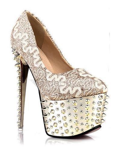 Miraculous Suede Night Club Rivet Stiletto Heels Boots | beautyful | Scoop.it