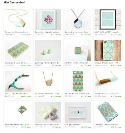 { Etsy Crush } Mint Geometrics ! | décoration & déco | Scoop.it