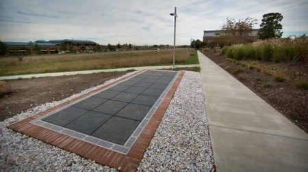 "University creates ""world's first walkable solar panel pathway"" 