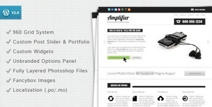 Amplifier – Business Portfolio WordPress Theme | Premium Wordpress Themes | Scoop.it