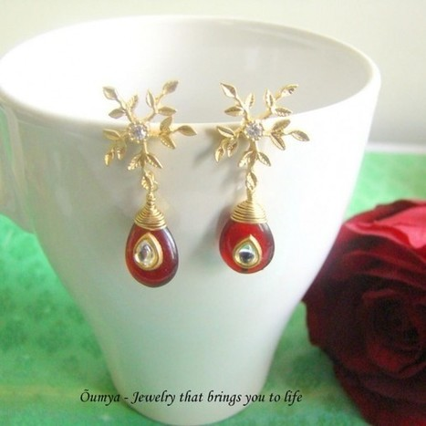 Snowflake with red kundan - Craftsia - Indian Handmade Products & Gifts | Indian Handmade Jewelry | Scoop.it