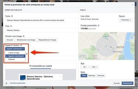 Les Pages Facebook locales: un bouton Appeler maintenant sur les publicités | Outils webmarketing pour professionnels du tourisme | Scoop.it