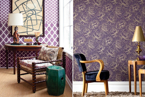 Papered Walls: some cool wallpaper designs | Designing Interiors | Scoop.it