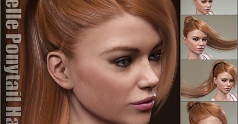 3d Model Art Zone: 3d Models Art Zone - Rochelle Ponytail Hair for Genesis 3 Female(s) | 3d Models | Scoop.it