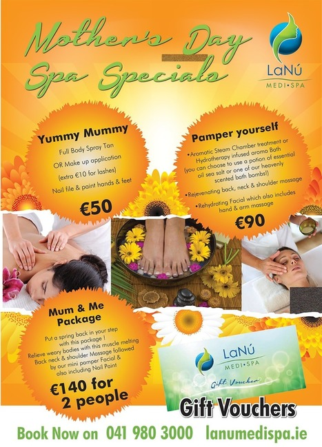 Pampering Mother's Day Spa Special Packages and Gift Vouchers | Luxury Spa, Wellness and Beauty Experience | Scoop.it