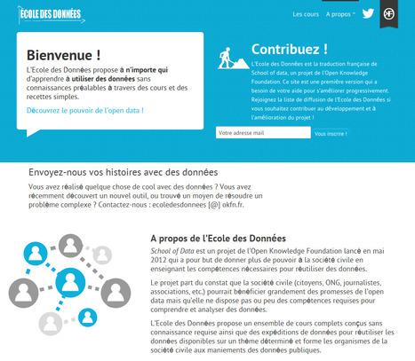 Ecole des Données – Version française - Savoir c'est pouvoir | Mon Environnement d'Apprentissage Personnel (EAP) | Scoop.it
