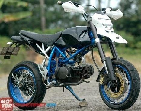 kumpulan modifikasi motor honda win terbaru