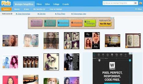 Pixiz: sitio para crear fotomontajes, collages, aplicar filtros y más | Las TIC en el aula de ELE | Scoop.it