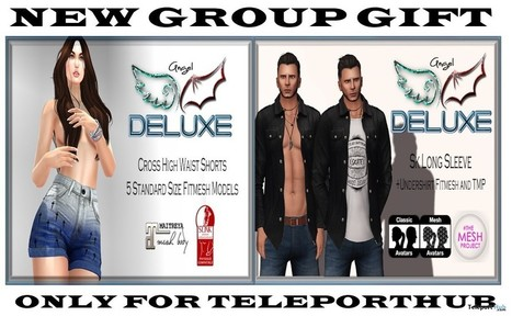 Cross High Waist Shorts & Sk Long Sleeves Teleport Hub Group Gifts by Angel DELUXE | Teleport Hub - Second Life Freebies | Second Life Freebies | Scoop.it