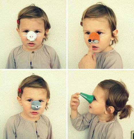 Fiche créative : Déguisement DIY en nez d'animaux par Bullecreative | Loisirs créatifs, DIY & activités manuelles | Scoop.it