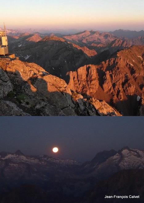 Coucher de lune et lever de soleil depuis l'arbizon | Vallée d'Aure - Pyrénées | Scoop.it