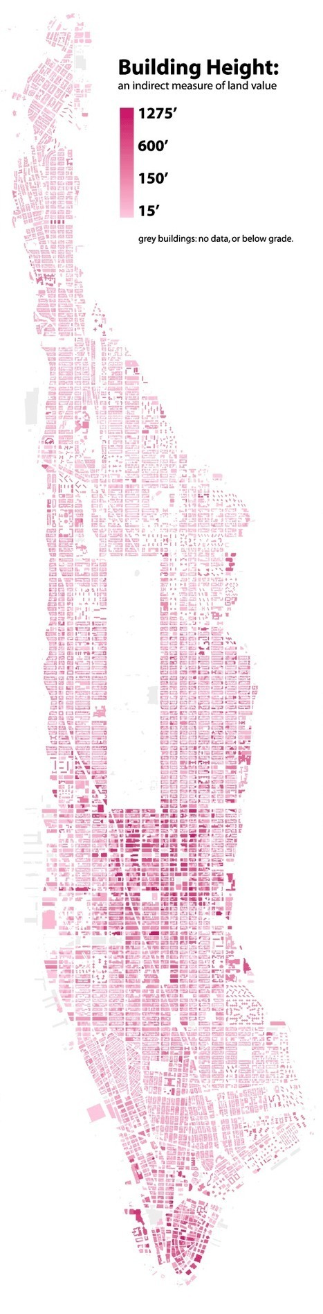 Manhattan Building Heights as LandValue  -   Cool Infographics | Modern Ruins, Decay and Urban Exploration | Scoop.it